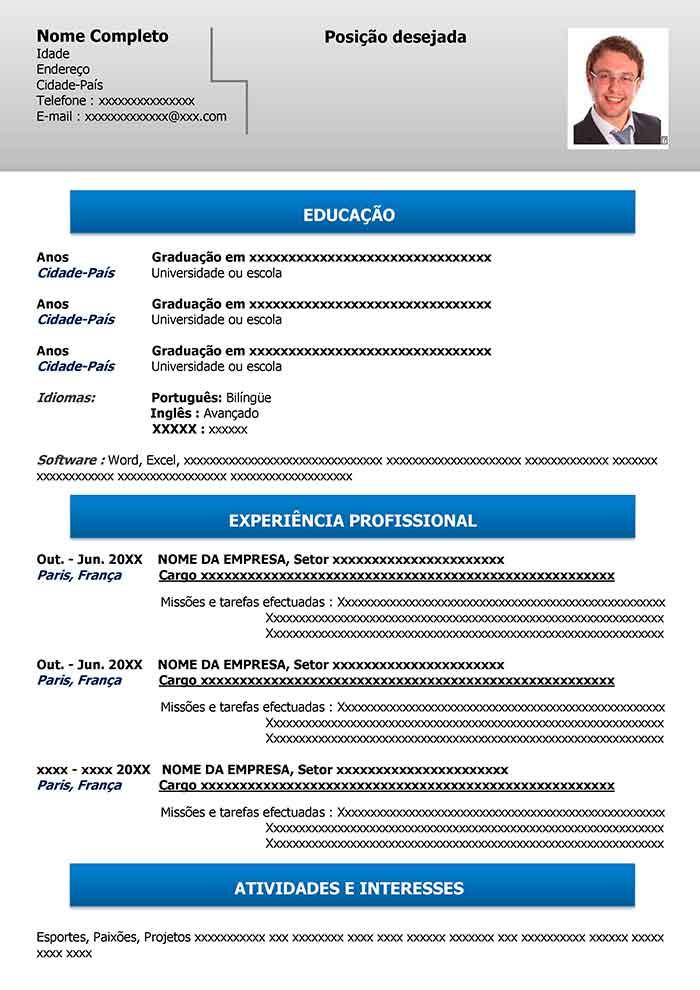 modelo de curr u00edculo online gratuito para word