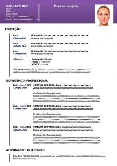 Modelos De Curriculo Moderno Gratis Em Word Curriculum Vitae