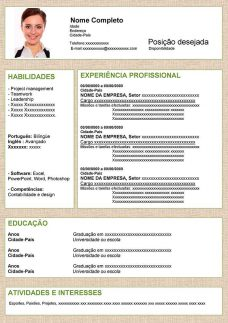 exemplo curriculo pronto simples