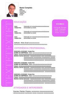 Exemplos De Curriculos Prontos Gratis Em Word Curriculum Vitae