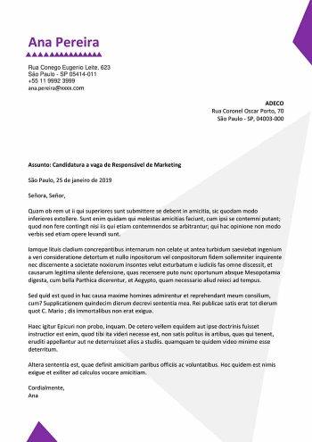 modelo de carta de apresentação para solicitação de emprego