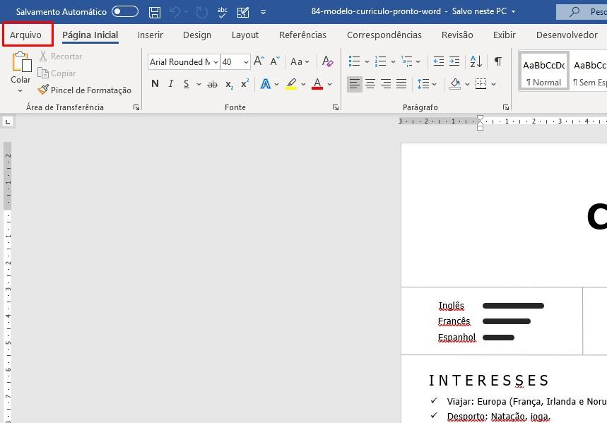 como editar curriculo em pdf